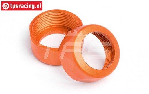 HPI87491 Schokdemper dop Oranje Ø20-12 mm, 2 st.
