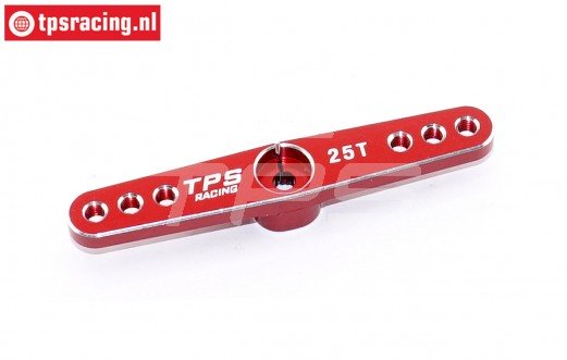 TPS0820/04 Aluminium Servo hevel 25T-L62 mm Rood, 1 st.