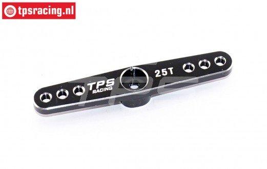 TPS0820/06 Aluminium Servo hevel 25T-L62 mm Zwart, 1 st.