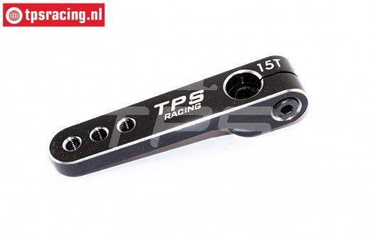 TPS0830/06 Aluminium Servo hevel 15T-L47 mm Zwart, 1 st.