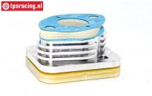 FG7338 Aluminium tuning Isolator H22 mm, Set