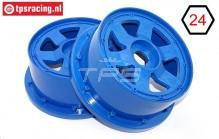 TPS5026/60BL Nylon Velg 6-Spaaks Blauw Ø120-B60 mm, 2 st.