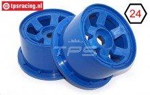 TPS5028/80BL Nylon Velg 6-Spaaks Blauw Ø120-B80 mm, 2 st.