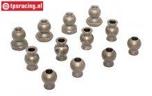 BWS55044/12 Aluminium Kogels BWS-LOSI, 12 st.
