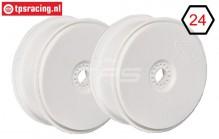 FG67215 1/6 Disk Velgen Tire Safe Wit Ø130-B65 mm, 2 St.