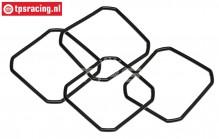 TPS86478 Differentieel pakking rubber HPI-ROVAN, 4 st.