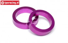 HPI86616 Tandwiel afstand ring Paars, 2 st.