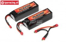 HPI115505 Accu HPI, PLAZMA ULTIMATE POWER, (5300 mAh, 14,8 Volt), 2 st.