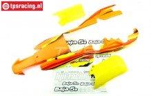 HPI7766 5B-1 Gespoten Kap Oranje/Geel/Wit, Set