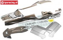 HPI7792 5B-1 Gespoten kap Gun-Metal/Grijs/Zilver, Set