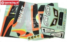 LOS259000 LOSI 5IVE-T AVC Stickers, Set