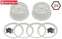 LOS45026 LOSI 5IVE-T Velg Wit, set