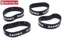 Samba 4810 uitlaat ringen, (Ø60-Ø70), (Zwart), 4 st.