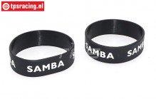 Samba 7114 uitlaat ringen, (Ø50-Ø60), (Zwart), 2 st.