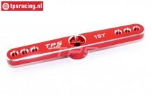 TPS0850/04 Aluminium Servo hevel 15T-L73 mm Rood, 1 st.