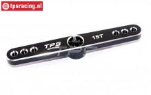 TPS0850/06 Aluminium Servo hevel 15T-L73 mm Zwart, 1 st.