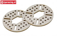 BWS59062 Aluminium remschijf BWS-LOSI, (Ø60 mm), 2 st.