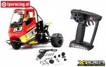 XR83001-01 X-Rider Flamingo Tricycle RTR Rood, Set