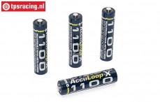 Accu, Acculoop-X, (AAA 1100 mAh, 1,2 Volt), 4 st.