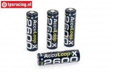 Accu, Acculoop-X, (AA 2600 mAh, 1,2 Volt), 4 st.