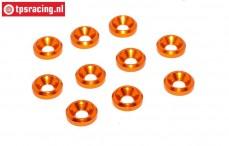 TPS1233/04 Alu verzonken ring Ø3 mm Oranje, 10 st.