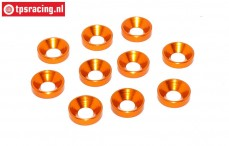 TPS1234/04 Alu verzonken ring Ø4 mm Oranje, 10 st.