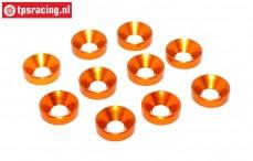 TPS1235/04 Alu verzonken ring Ø5 mm Oranje, 10 st.