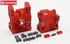 Area RC, Differentieel huis achter, (DBXL & MTXL), (Rood aluminium), Set