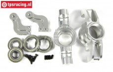 Area RC, Fusee voor binnen, (5B, 5T & MINI WRC), (Zilver Aluminium), 1 st.