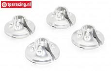 Area RC, Veerschotel, (DBXL & MTXL), (Zilver Aluminium), 4 st.