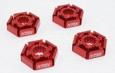 Area RC, Velg meenemer, (X-Maxx, TRX7756), (Rood Aluminium), 4 st.