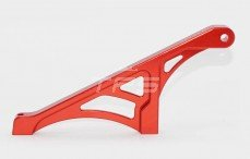 Area RC, Chassis strip achter, (5IVE & MINI), (Rood Aluminium), 1 st.