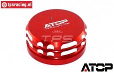 AT-5T017R ATOP Aluminium Tankdop Rood LOSI-BWS, 1 st.