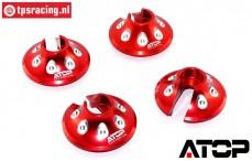 AT-5T018R ATOP Aluminium veerschotel Rood LOSI-BWS, 2 st.