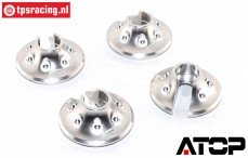 AT-5T018S ATOP Aluminium veerschotel Zilver LOSI-BWS, 2 st.