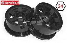 TPS5026/60B Nylon Velg 6-Spaaks Zwart, 2 st.