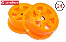 TPS5026/60OR Nylon Velg 6-Spaaks Oranje Ø120-B60 mm, 2 st.