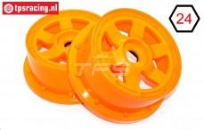 TPS5026/60OR Nylon Velg 6-Spaaks Oranje, 2 st.