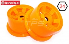 TPS5028/80OR Nylon Velg 6-Spaaks Oranje Ø120-B80 mm, 2 st.