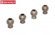 BWS55041 Aluminium Kogels Ø11-Ø5,2-H13 mm BWS-LOSI, 4 st.