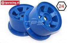 TPS5028/80BL Nylon Velg 6-Spaaks Blauw, 2 st.