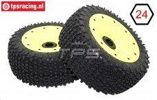 BWS69034/02 Mini-Pin zwart-geel Ø180-B75 mm, 2 st