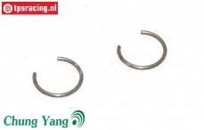 CY0311/07 Pistonpen clips CY Ø9,5 mm, 2 st.