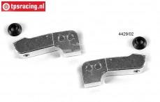 FG1079 Aluminium Fusee verlenging lang, Set