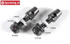 FG1196/03 Stabilisator houder, M6-Ø5,0 mm, Set