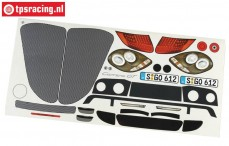 FG2083/01 Stickers Porsche Carrera GT, Set