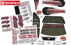 FG26155 Stickers FG Monster-Stadium-Street Truck 4WD, Set