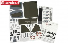 FG40155 Stickers Jeep, Set