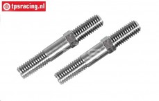 FG4523 Titanium Instelstang M8 L/R-L53 mm, 2 St.