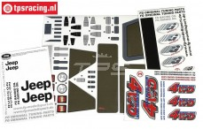 FG46155 Stickers Jeep 4WD, Set